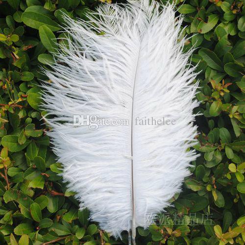 Frete grátis por atacado 10-12 polegada branco AVESTRES PENAS plume para centerpices casamento decoração do partido do evento suprimentos decoração