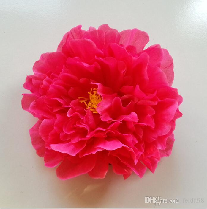 Künstliche Blumen Pfingstrose Blumen Seide Blume Tanz Requisiten 20 CM große Pfingstrose Kostenloser Versand