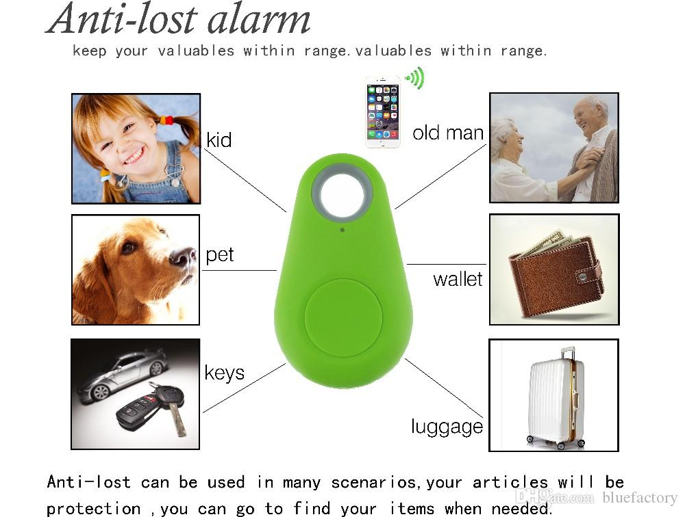 Wireless Bluetooth 4.0 Smart Anti Lost Tracker Alarm Anti-lost key finder remote camera For iphone Samsung HTC Smartphone with retail box