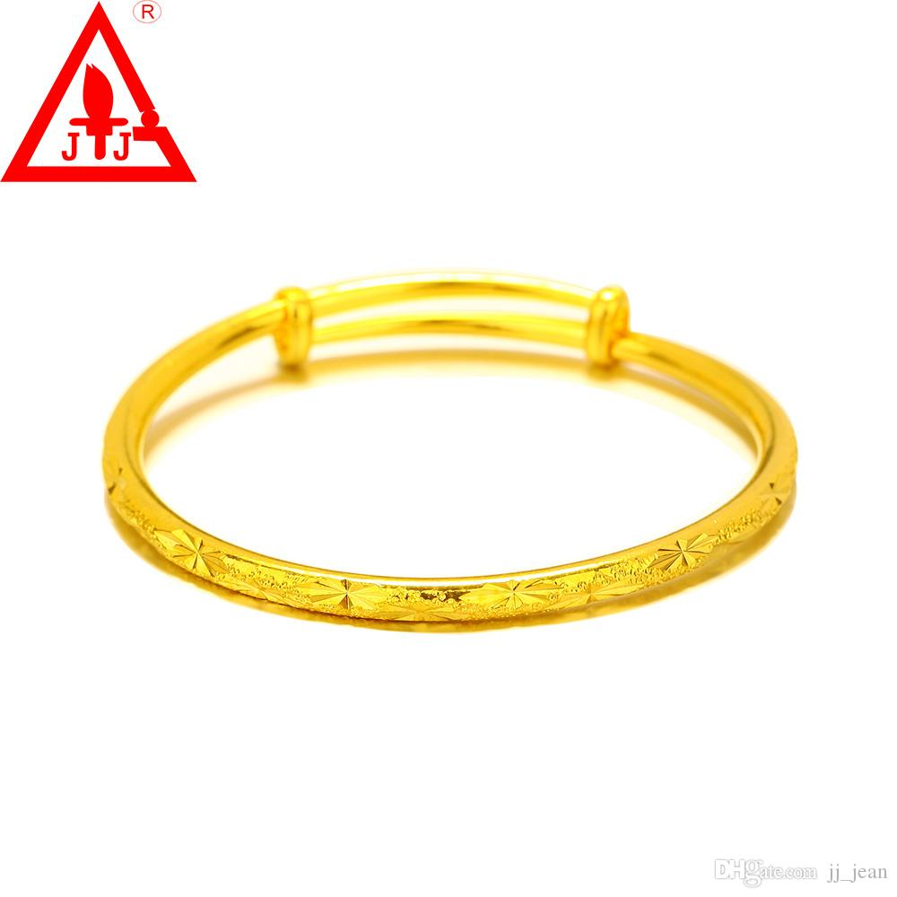 24K Gold Plated Bangles New Style For Women Men Luxury Fine Jewelry Adjustable Hot Sale Limited Promotion Real Bracelets