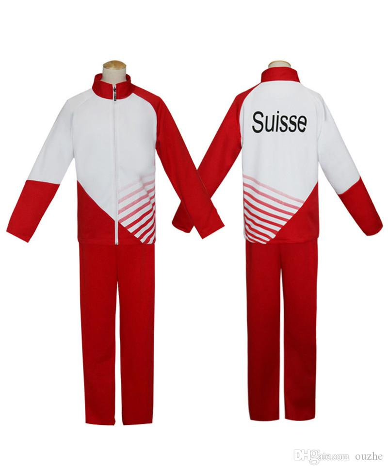 2017 cartoon ice yuri yuri plisetsky anime show clothes! ! ! Ice jacket pants Sports and leisure suits fashion men's school uniforms