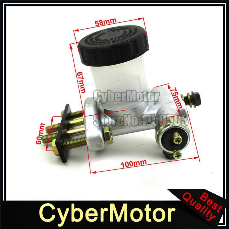 Wholesale- Brake Master Cylinder For Go Kart Buggy 90cc 110 125cc 150cc 200  250cc Kandi BMS Roketa Kinroad Kazuma Sunl Hammerhead 6 000 076