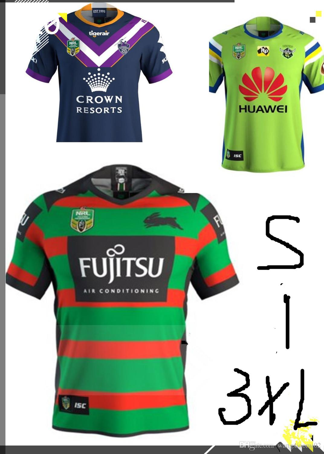 601fcd7254b 2019 2018 NRL JERSEYS SOUTH SYDNEY RABBITOHS Rugby League South Sydney  Rabbitoh New Jersey High Temperature Heat Transfer Printing Size S XXXL  From ...