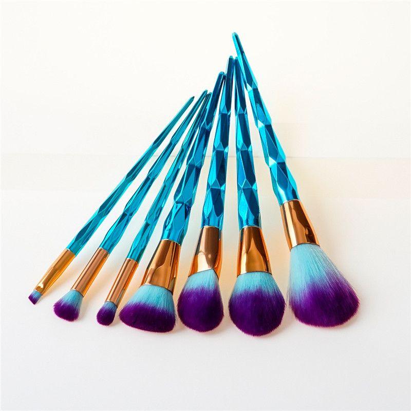 12шт/набор голубой бриллиант спираль ручкой кисти для макияжа Фонд румяна мощность тени для век макияж кисти комплект многоцелевой макияж кисти комплект