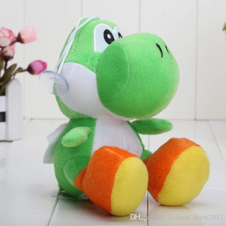 Sıcak Süper Mario Bros Yoshi Peluş Oyuncaklar Dolması Yumuşak Bebekler Anahtarlıklar Ile 10 Renkler Ücretsiz Kargo
