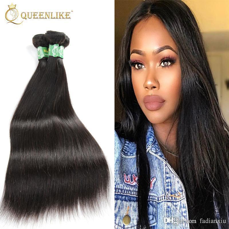 European Virgin Hair Weave 1 Bundles Silk Silky Straight 1b Double