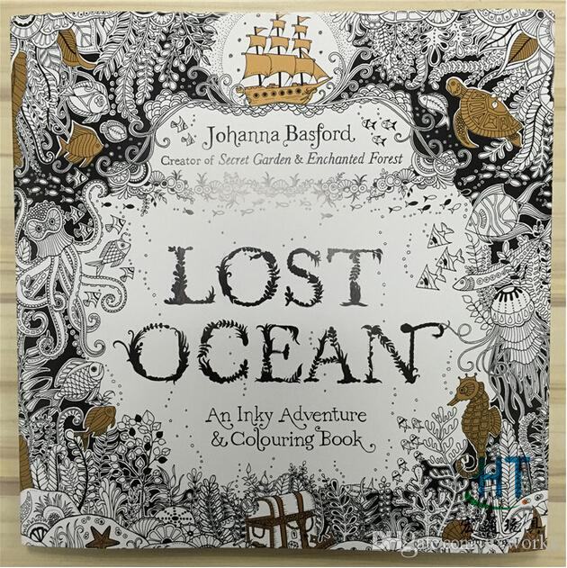 Secret Garden Coloring Books Lost Ocean An Inky Treasure Hunt And Book Enchanted Forest Fantasy Dream Relax Graffiti Painting Kid