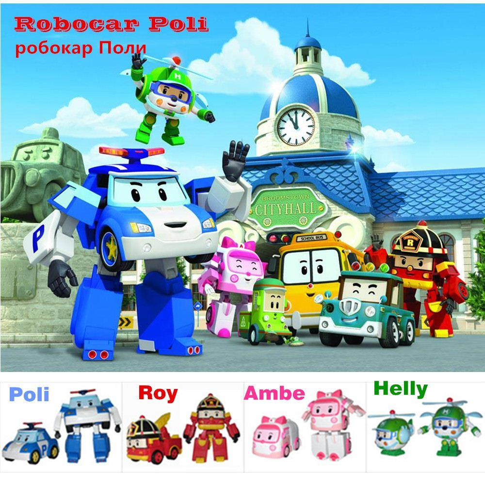 Robocar poli helly roy ambe deformation robot car toys - Robot car polly ...