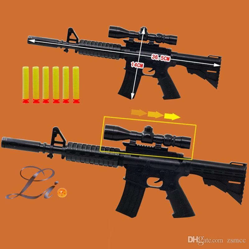 M4A1 assault rifle plastic toy nerf guns + 6 EVA foam bullets costume for children safe toy sniper rifles, submachine