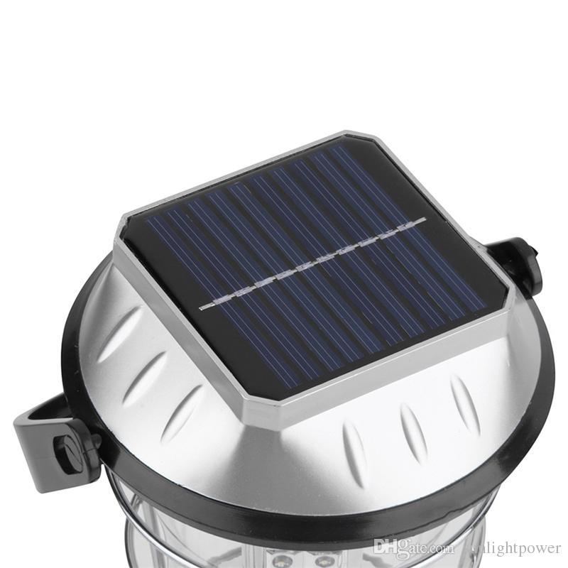 Dinamo della manovella solare 36 LED Super Bright Lanterna di campeggio esterna della luce del lavoro nuovo di zecca Lanterne portatili