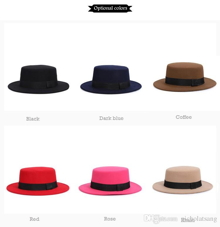 153ba2e90f5 2016 New Fashion Autumn Winter Women Fedora Hats Brand Cotton Solid Wide  Brim Jazz Panama Caps For Woman Unisex Bowler Top Hat Pork Pie Hat Snapback  Hats ...