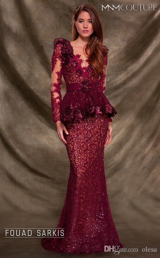 134003c99792 MNM Couture 2138 Sexy Sheer Illusion Jewel/Bateau Long Sleeve Mermaid Floor  Length ...