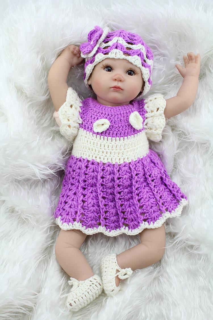 Wholesale Soft Silicone Reborn Baby Doll Baby Alive Doll For Girls