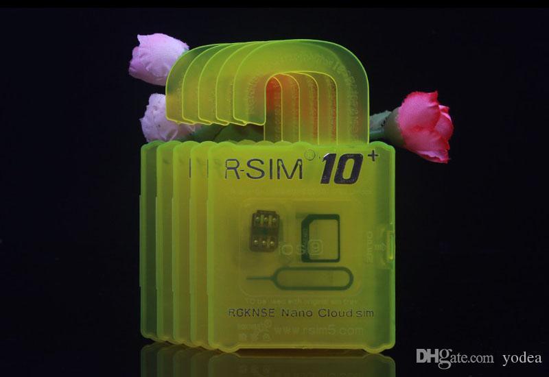 Free shippin For iphone 6s plus 6 5s 5 4s IOS9.1 9.0 IOS7.X-9.X Unlock Card RSIM 10+ Rsim10+ CDMA GSM 3G 4G SB AU SPRINT add Rpatch carrier