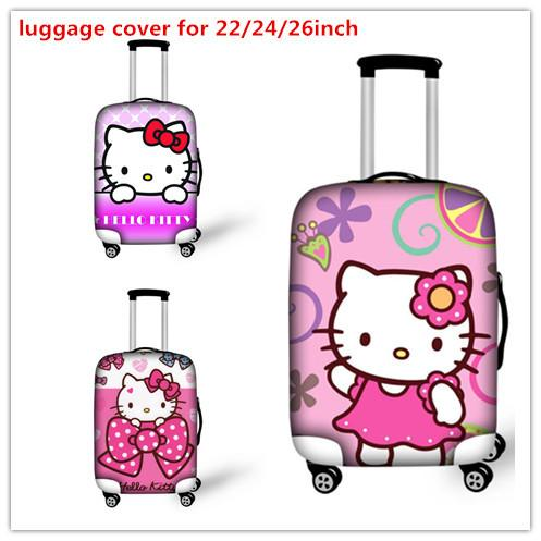 5a8cbe982d19 2019 Cute 3D Hello Kitty Travel Accessories Girl S Suitcase Cover Baby  Suitcase Kids Luggage Wateroof Cover Supply 22 24 26inch Case From Zxy3