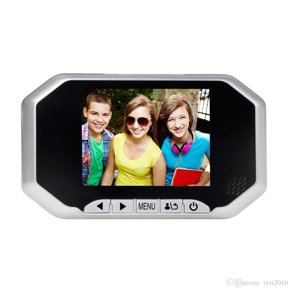 3.5 pouces LCD moniteur vidéo sécurité porte Bell caméra 160 degrés numérique porte visionneuse Peephole Doorbell PIR 16GB SD carte record