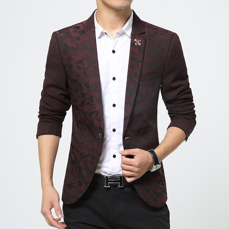 2018 2016 Latest Designs Brand Casual Slim Fit Unique Blazer Male Suit Jacket Coat Man Veste ...