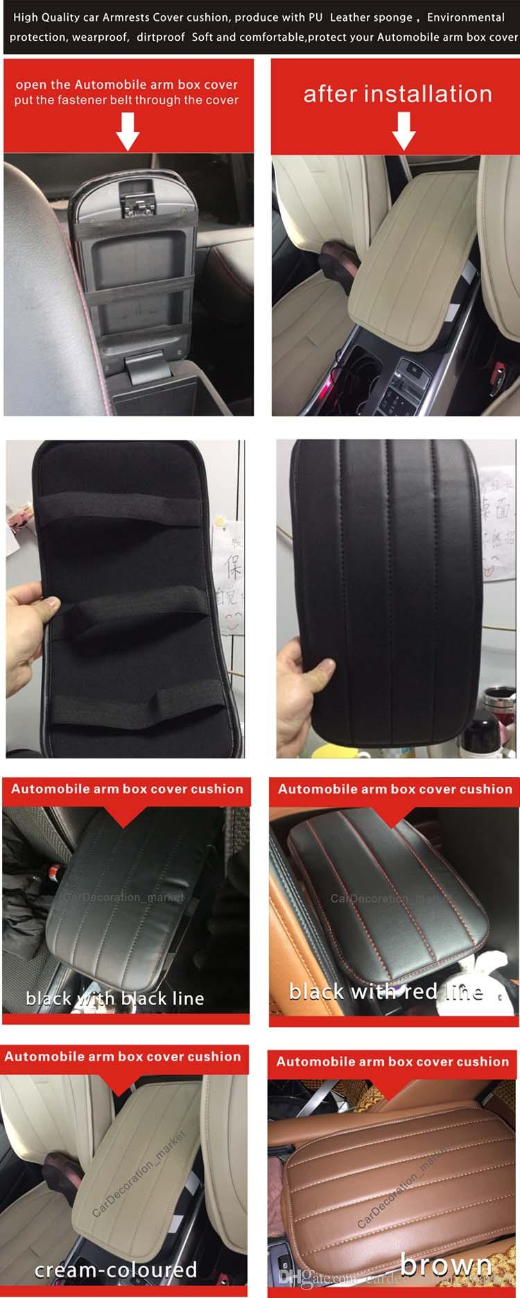 Moda decoração interior acessório prado 2.7L almofada de cobertura de braço, prado 3.5L Veículo centro Console tampa da caixa de almofada entre os assentos de carro da frente