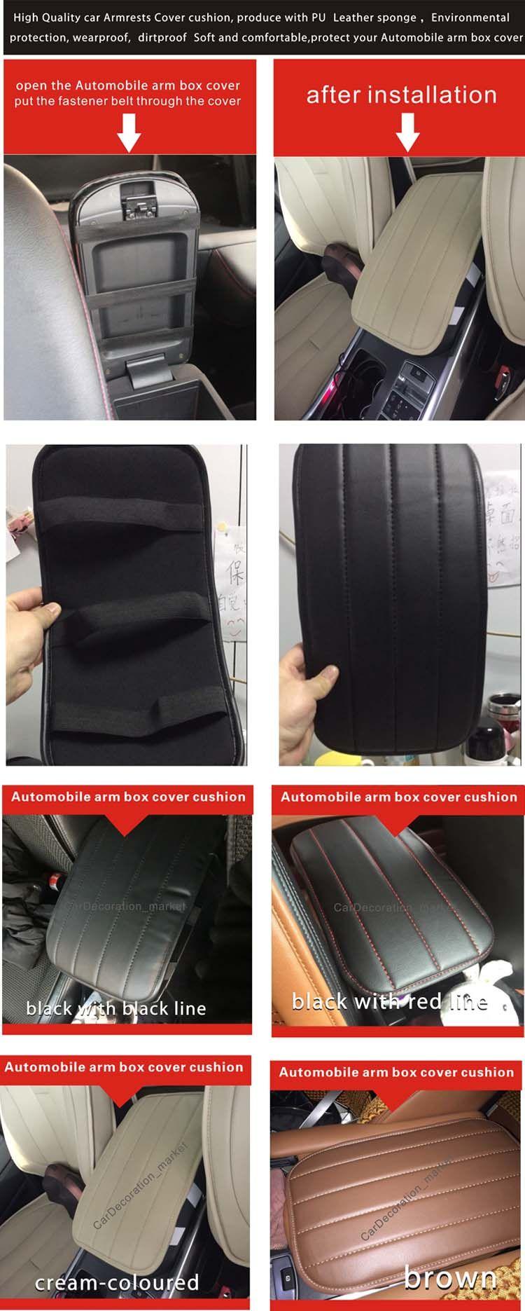 Mode-Interieur Zubehör Dekoration Prado 2.7L Armlehne Abdeckung Kissen, Prado 3.5L Fahrzeug-Mitte Console Box Abdeckung Pad unter den vorderen Autositzen
