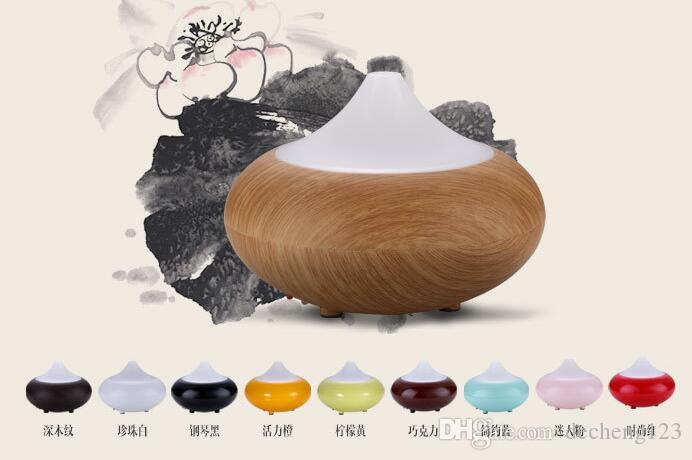 High quality Electric Aromatherapy Essential oil Diffuser Cool Mist Humidifier with Color LED light and Auto off for home and office