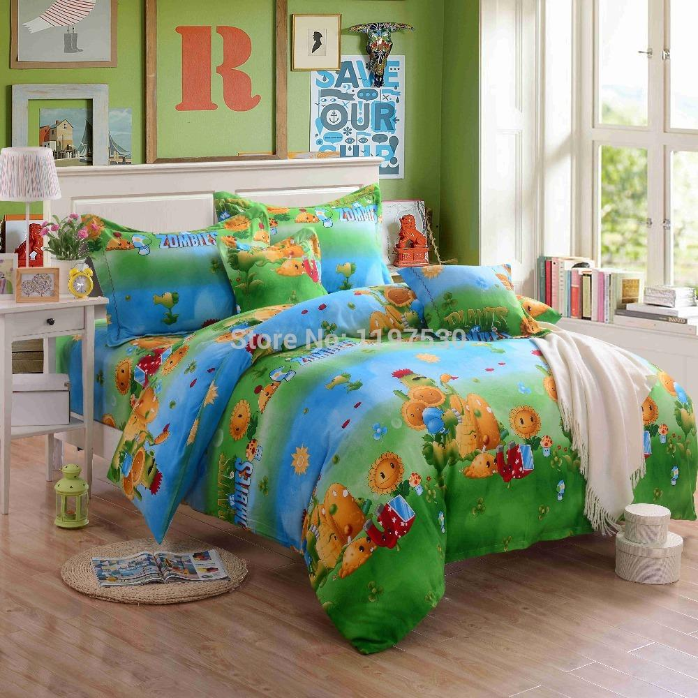 2017 new design plants vs zombies bedding set without the filler twin full queen king size. Black Bedroom Furniture Sets. Home Design Ideas