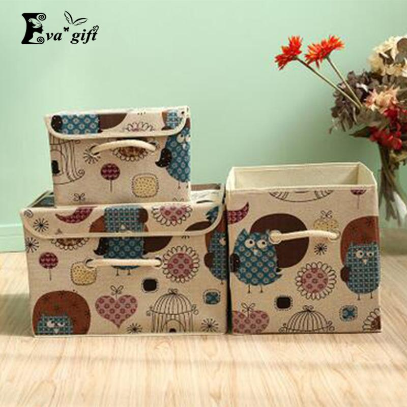 2018 Fshion Printing Patten Storage Box Container Lidded Closet