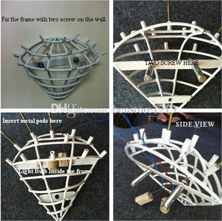 Freier Verschiffen Soem-Mund durchgebrannter Borosilikatglaswand-Licht-Fertigkeit-recht bunte Glaswand-hängende Lampe