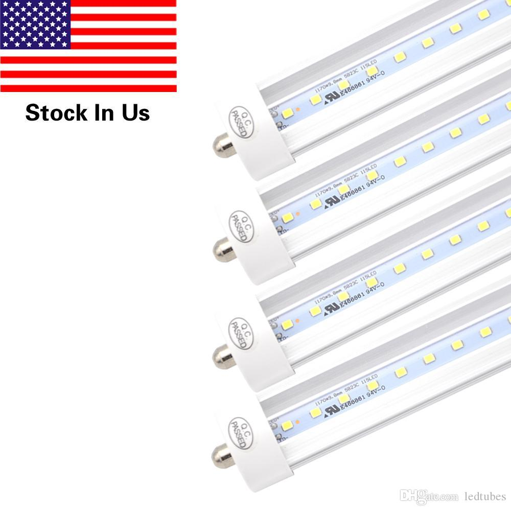 8ft 24m t8 led light tube with fa8 single pin cold white 6000k dual 8ft 24m t8 led light tube with fa8 single pin cold white 6000k dual end powered45w 90w equivalent fa8 lighting fixtures ledtube led replacement for arubaitofo Gallery
