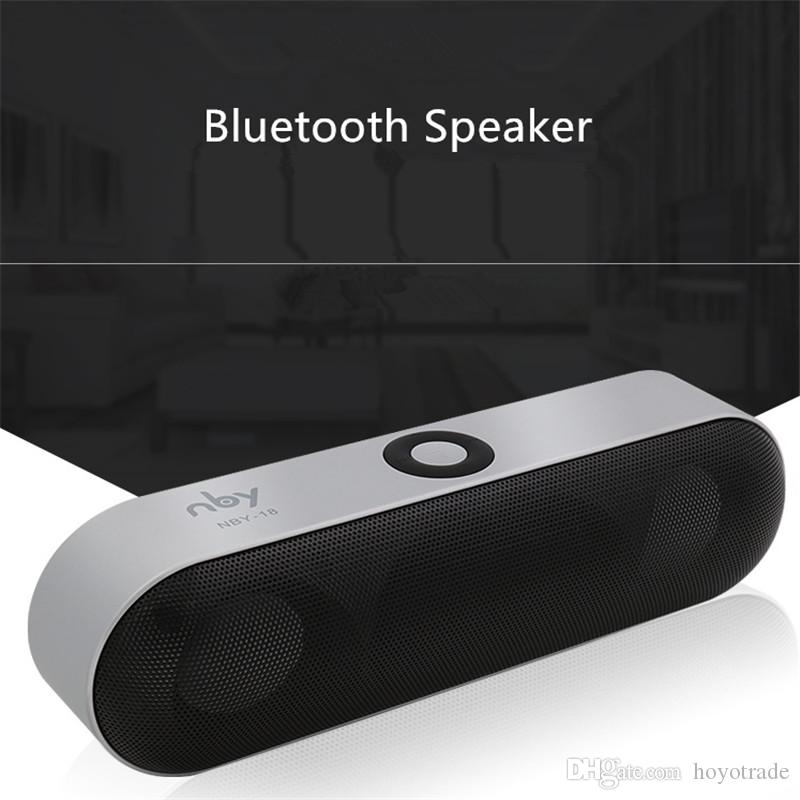 NBY-18 mini Blutooth Speaker 3D Surround Stereo Subwoofer HIFI Wireless Portable Speaker Boombox Bluetooth Music Receiver For Phone