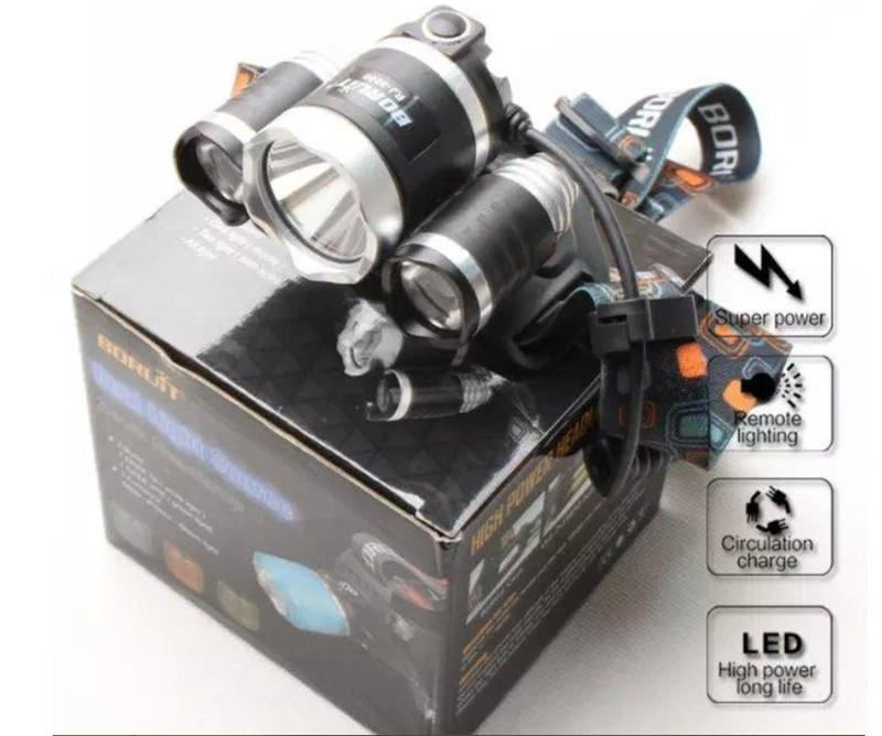Super bright BORUiT RJ3000 6000Lm CREE XML T6+2R5 LED 4-mode Headlight Headlamp Head Lamp Light Flashlight Camping Fishing