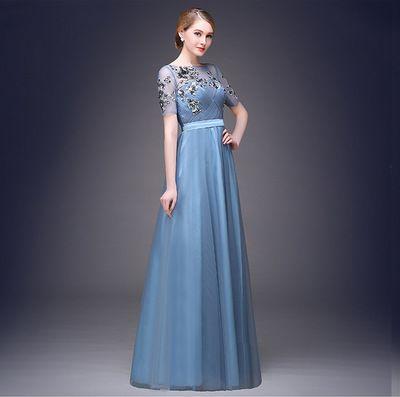Großhandel Neue Mode Rot Blau Prom Cocktail Kleider Stickerei ...