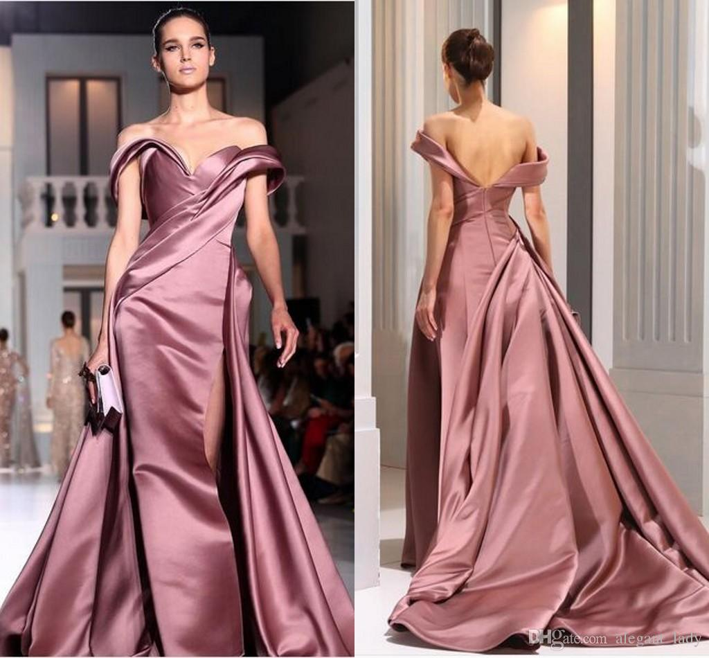 Ralph & Russo Rose Gold Celebrity Prom Formal Dresses 2018 Modest ...