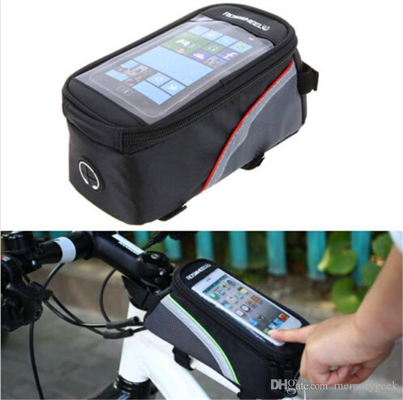 2016 hot sale Waterproof Cycling Sport Bike Accessories Bicycle Frame Pannier Front Tube Bag