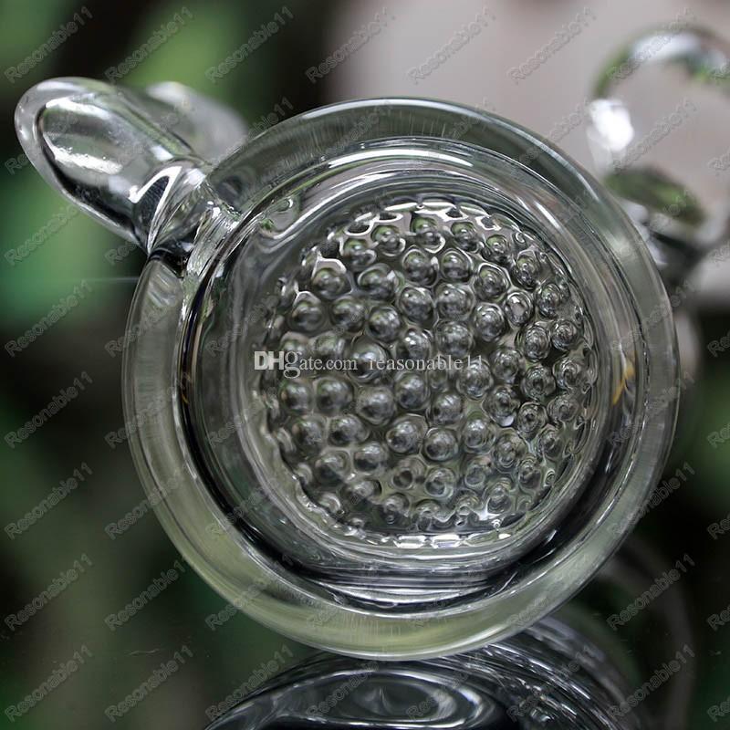 Olio Recycler Bubbler a forma di cono del mini del Pocket vetro ConcentrateOil Rigs doppi strati Honey Comb Percolaters waterpipes