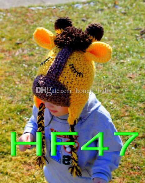 Baby Crochet Horse Pony Hat Horse Kids Girls Boys Farm Animal Hat Winter Beanie Newborn Infant Toddler Children Beanie Skull Cap 100% Cotton