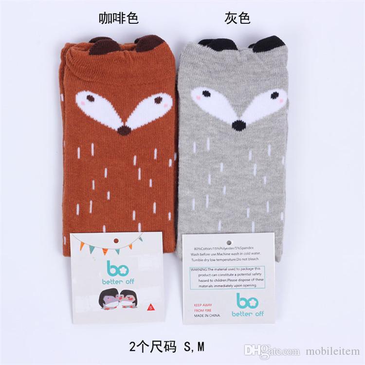 Çocuk Giyim Bebek Kız Tayt Çorap Pamuk Çorap Karikatür Giyim Çorap Sevimli Noel Hediyesi Küçük Fox Stereo Kulak Pamuk Sonbahar Kış