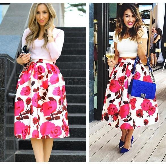 Online Cheap Vintage Women Long Skirt New Fashion 2015 Spring ...