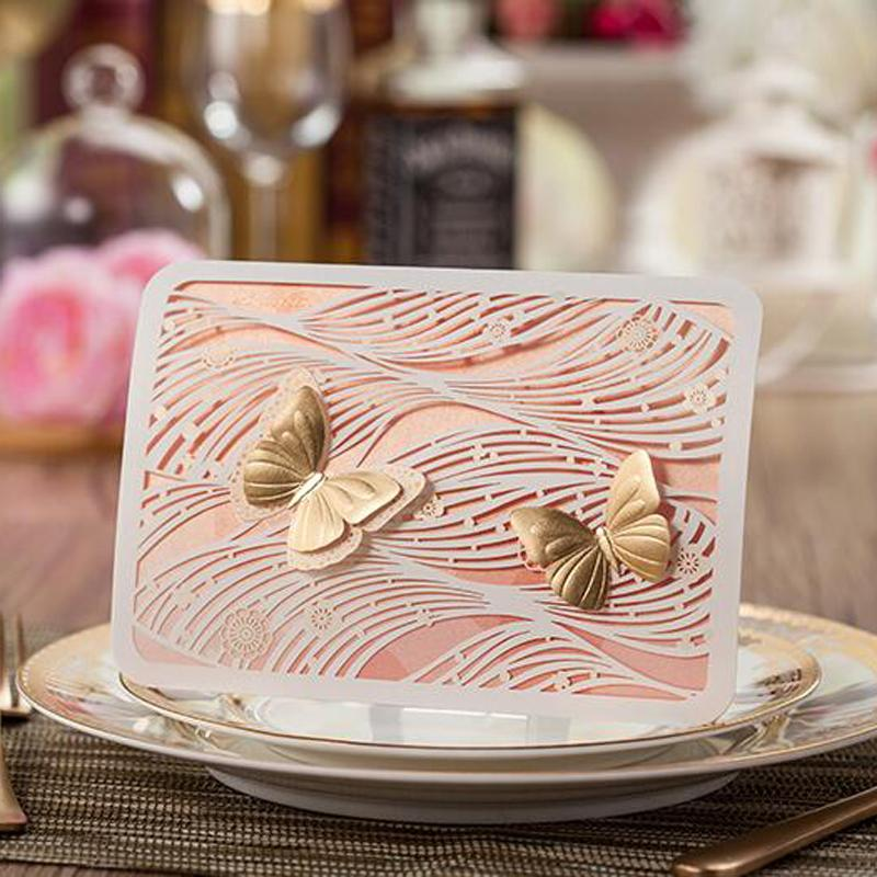 Invitations U0026 Invitation Buckles Folded Hollow Wedding Invitation Butterfly  Baby Shower Gold Laser Cut Christmas Paper