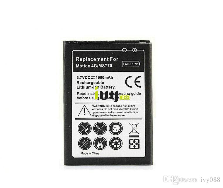 LG 모션 4G MS770 휴대 전화 배터리 LS860 LW770 US730 LG730 AS730 P770 P705 P700 Optimus L7 배터리 BL-44JH 1900mAh /