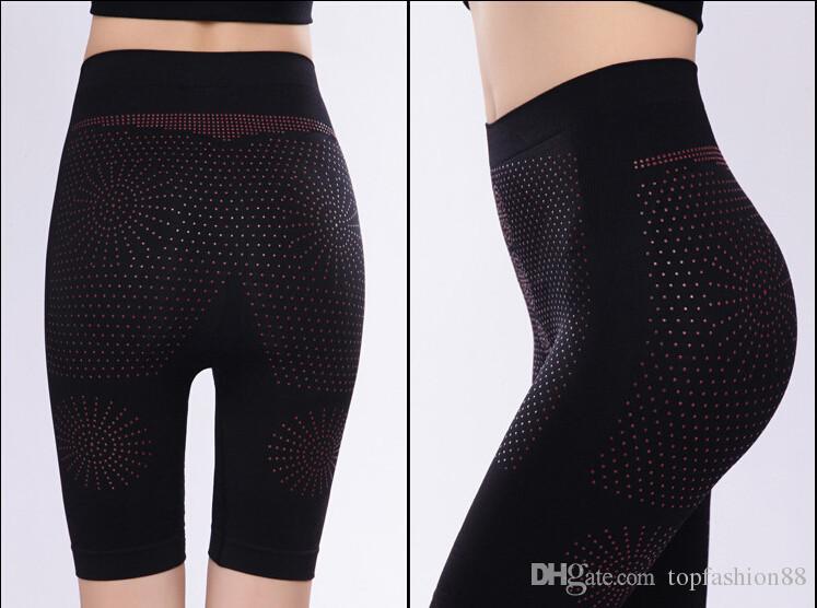 Kadınlar için seksi Kontrol Külot Şekillendirici Spor pantolon Boyshort Uzak-kızılötesi manyetik terapi zayıflama pantolon Dikişsiz iç çamaşırı
