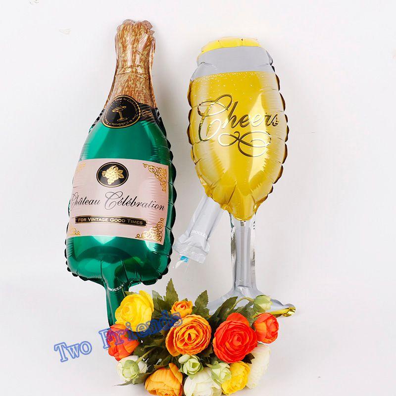 Acheter Mini Coupe De Champagne Bouteille De Bière Fleur Ballons