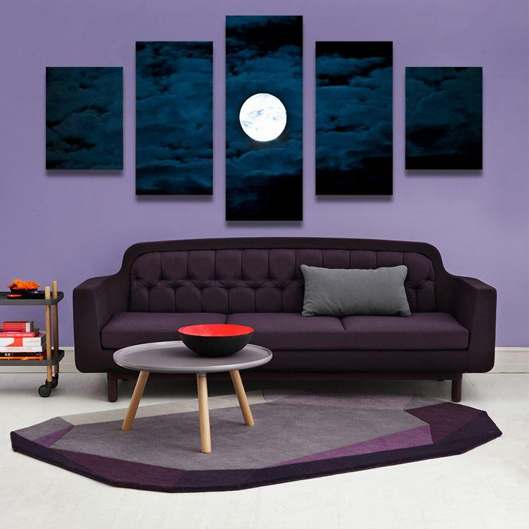 2019 Home Decor Canvas Wall Art Painting MOON AT NIGHT Picture Print From Photo On For The Watchsaler