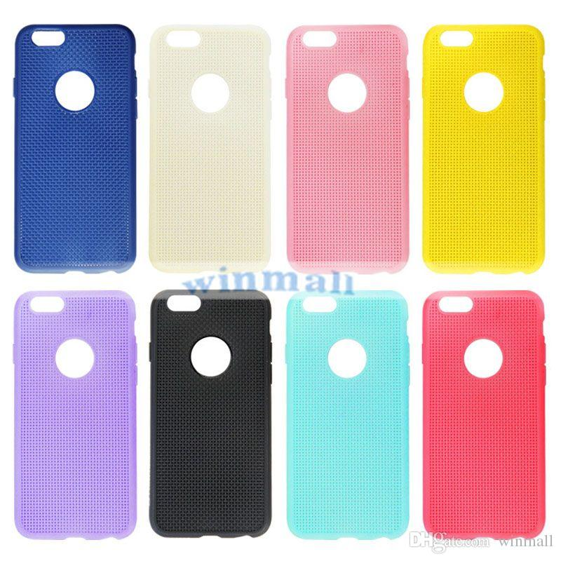 """2015 New Hot sale Candy Color Soft TPU Gel Mesh Back Cover Case For Iphone 6 4.7"""" Iphone 6 plus 5.5"""""""