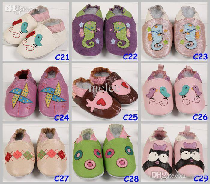 Leather Baby Soft Sole Walking Shoes Zoo Newborn Infant Owl Leather shoes Toddler First walker Shoes