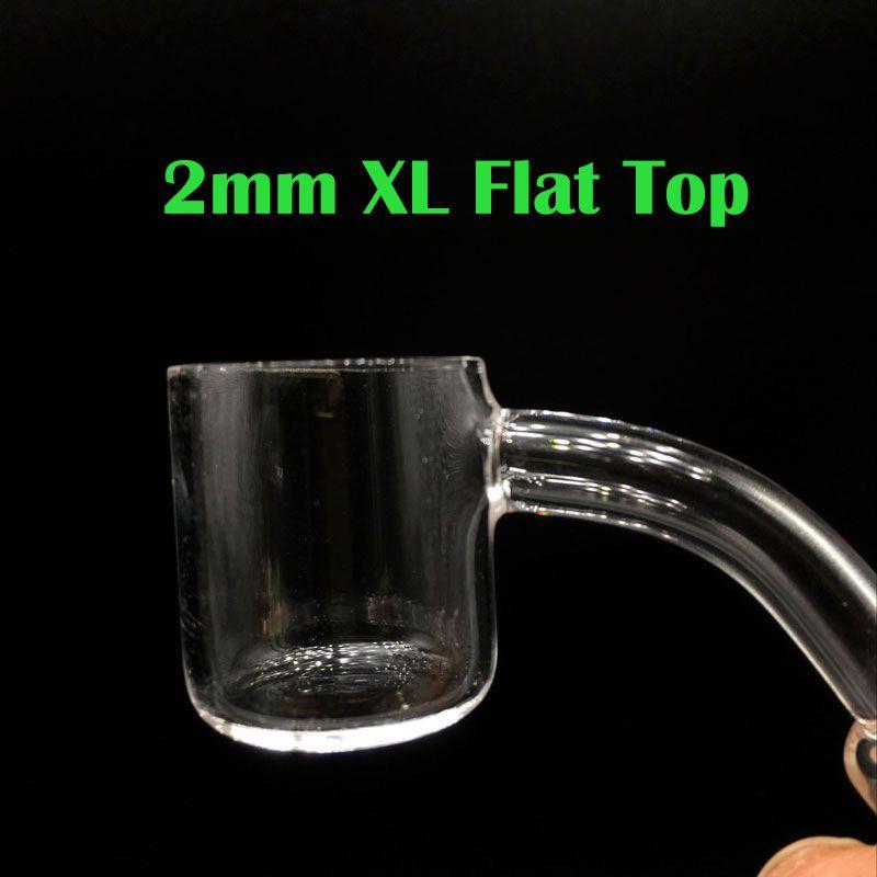 2mm XL 25mm OD Flat Top Quarz banger 10mm 14mm 18mm Männlich Weiblich Clear Joint Quarz Banger Nägel Für Glasbongs Öl Rigs