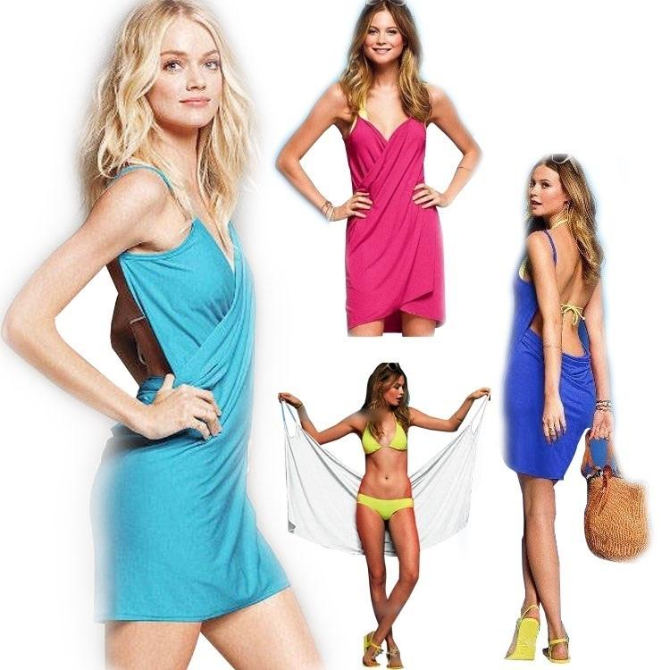e5a629edf7 PrettyBaby Halter Skirt Swimwear Women One Piece Swimsuit Beachwear Swim  Dress Plus Size Bathing Suit Body Wrap Bath Towel Spaghetti Strap Beach  Dress ...