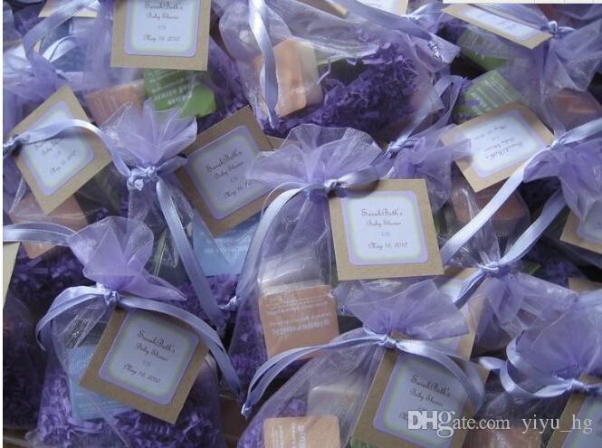 Оптовая Органза BABLE BAGS 9 X12CM, Свадебные ювелирные изделия Упаковка Пакеты, Приятные подарочные пакеты, 100 шт. / Лот