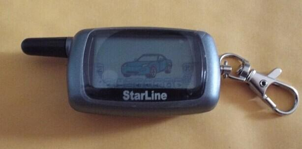 Russia Version Car Starline A6 LCD Remote controller two way car alarm system