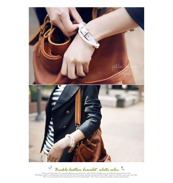 다층 가죽 매력 팔찌 체인 쥬얼리 액세서리 직조 짠 벨트 Bangles 3 색 블랙 브라운 화이트 공장 가격 무료 배송 DHL