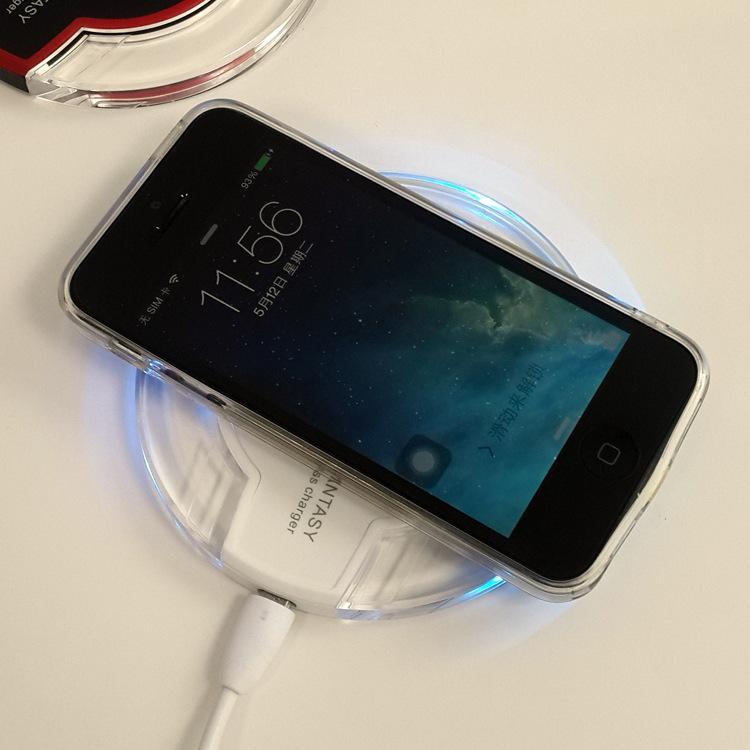 Crystal Fantasy Qi Wireless-Ladegerät für iPhone X 8 Plus Ladekissen Mini für Samsung S6 S7 Edge Plus S8